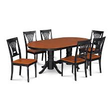 M D Furniture Somerville Black Cherry Dining Set With Oval Dining Table In The Dining Room Sets Department At Lowes Com