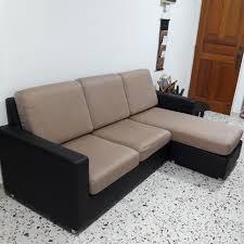 seahorse 3 seater l shape fabric sofa