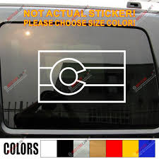 Colorado Flag Co Us State Decal Sticker Car Vinyl Die Cut Style Pick Size Color Car Stickers Aliexpress