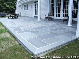 blue gray thermal patio stone patio