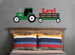 Tractor Wall Decal Green Tractor Wall Decal Boys Bedroom Etsy