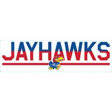 Kansas Jayhawks 3 X 10 Duo Tone Car Decal