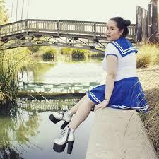 Rhea Smith - Littleforbig Sailor Blue Skirt Onesie Set, Pleaser ...