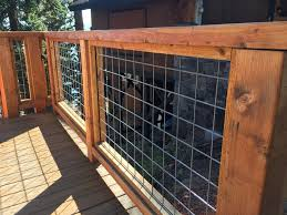 Hog Fence Deck Railing Best Safety Option Homes Wire Inexpensive Cable Home Elements And Style Panel Designs Crismatec Com