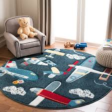 Harriet Bee Burgan Kids Navy Area Rug Reviews Wayfair