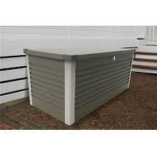 trimetals large patio storage box olive