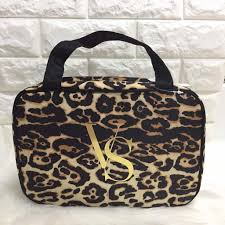 secret leopard print travel makeup bag