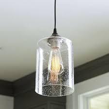 light adapter seeded glass pendant