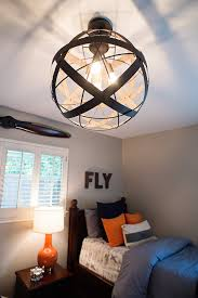 navy and orange airplane bedroom house