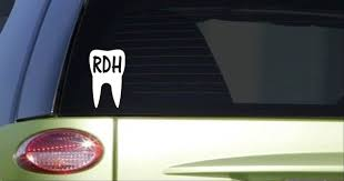 Rdh Tooth 6 Inch Tall Sticker Decal Dentistry Dental Hygienist Scrubs Car Sticker Wish
