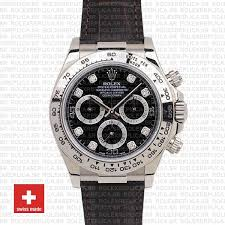 rolex daytona real leather black