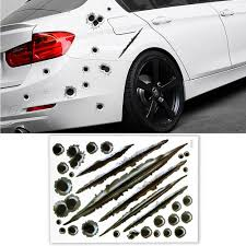 2020 Eafc Car Stickers 3d Bullet Hole Funny Decal Car Covers Motorcycle Scratch Realistic Bullet Hole Waterproof Stickers Car Styling From Lwx02 13 07 Dhgate Com