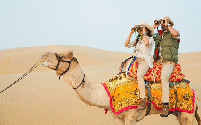 camel safari in jaipur