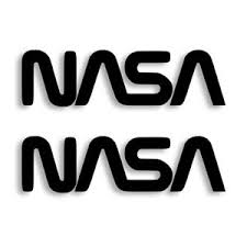 Nasa Worm Logo Usa Vinyl Decal Sticker Set Of 2 Ebay