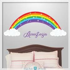 Shinning Rainbow Wall Decor Rainbow With Stars Wall Etsy