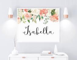 Baby Girl Name Isabella Name Nursery Name Decor Custom Etsy Nursery Name Decor Baby Girl Names Nursery Name Art
