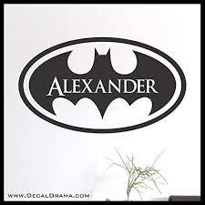 Amazon Com Batman Emblem Personalized Name Vinyl Decal Handmade