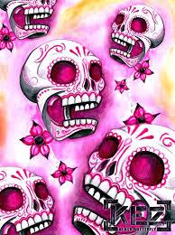sugar skull wallpaper hd pink sugar