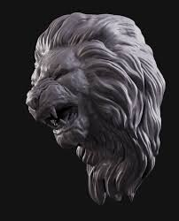 Lion head 2 3D Model in Animals 3DExport