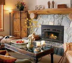 gas fireplace inserts rustic living