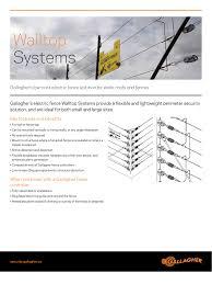 Gallagher Walltop Systems Intruder Warning Devices Datasheet Manualzz