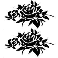 Amazon Com Giftcity Car Decals For Women 2 Pack Rose Flower Car Graphics Vinyl Decal Sticker Auto Car Side Decal Hood Decal Body Side Rear Window Bumper Sticker Universal Car Stickers Black Automotive