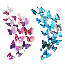 Hot 12 Pcs 3d Pvc Artificial Butterfly Wall Stickers Home Decor Butterfly Wall Decals For Kids Room Tv Kitchen Home Decrotion Wall Stickers Aliexpress