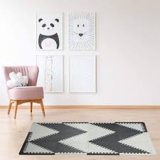 Amazon Com Play Mat Floor Mats For Kids Crawling Mat Foam Floor Tiles Baby Floor Mat Triangle Chevron Design Gray Sports Outdoors