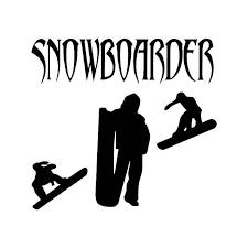 Snowboarder Vinyl Sticker