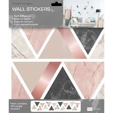 Ebern Designs Marble Triangles 32 Piece Wall Decal Set Wayfair