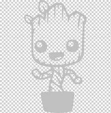 Marvel Baby Groot Art Baby Groot Wall Decal Sticker Baby Groot White Child Hand Png Klipartz