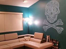 Skull With Bow Wall Decal Crown Punisher Sugar Stickers Art Steampunk And Crossbones Flower Vamosrayos