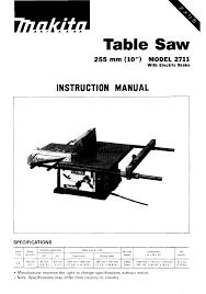 Https Www Manualshelf Com Manual Makita Arbor 2711 Saw User Manual Html