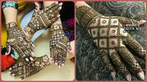 bridal mehndi designs for legs and hands