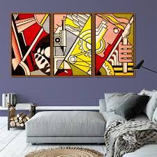 Roy Lichtenstein Abstract Pop Art Canvas Painting Vintage Kraft Posters Classic Wall Stickers Wall Art For Nursery Kids Bedroom Painting Calligraphy Aliexpress
