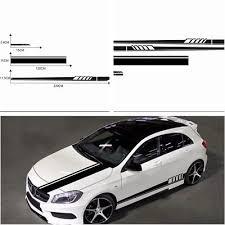 Black Side Skirt Mirror Body Hood Vinyl Racing Stripe Decals For Car Universal Ebay In 2020 Vinyl Racing Stripes Car Sticker Design Car Sticker Ideas
