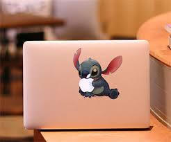 J346 Cartoon Cute Stitch Big Mouth Laugh Vinyl Decal Case For Apple Macbook Pro Air 13 Inch Laptop Shell Cover Stickers Decals Honda Decal Walldecal Tattoo Aliexpress