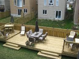 flat decks and small back yard patio