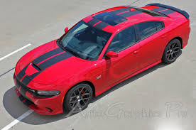 2015 2021 Dodge Charger Vinyl Racing Stripes N Charge Rally S Pack R T Scat Pack Srt 392 Hellcat Mopar Decals Kit