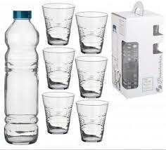 pasabahce glass water bottle jug 6