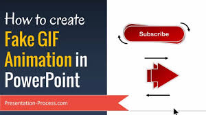 create fake gif animation in powerpoint