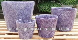 round outdoor glazed ceramic planter