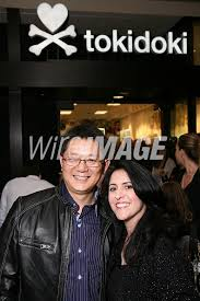 Colorfast Apparel CEO Edward Zhou and Tokidoki COO Pooneh Mohajer pose...    WireImage   107507715