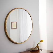 metal frame 30 round mirror