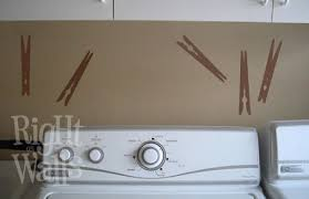 Laundry Room Clothespins Wall Decals Vinyl Art Stickers