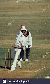 Kapil Dev doing bowling in test match ...