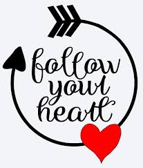 Follow Your Heart Vinyl Decal Valentines Day Wall Decal Window Decal Love Valentine Romantic Silhouette Cameo Projects Valentines Shirt Valentines