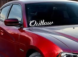 Buy Jdm Windshield Banner Outlaw Racing Street Bad Stance Muscule Vinyl Decal Car