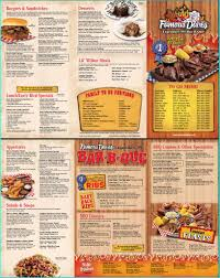menu for famous dave s woodbury