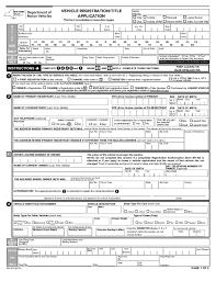 vehicle registration le application